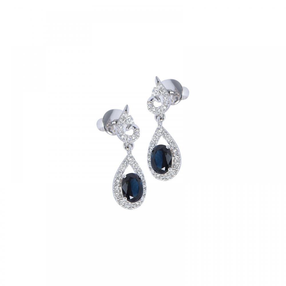 Bông tai đá Sapphire 20B069.2TI