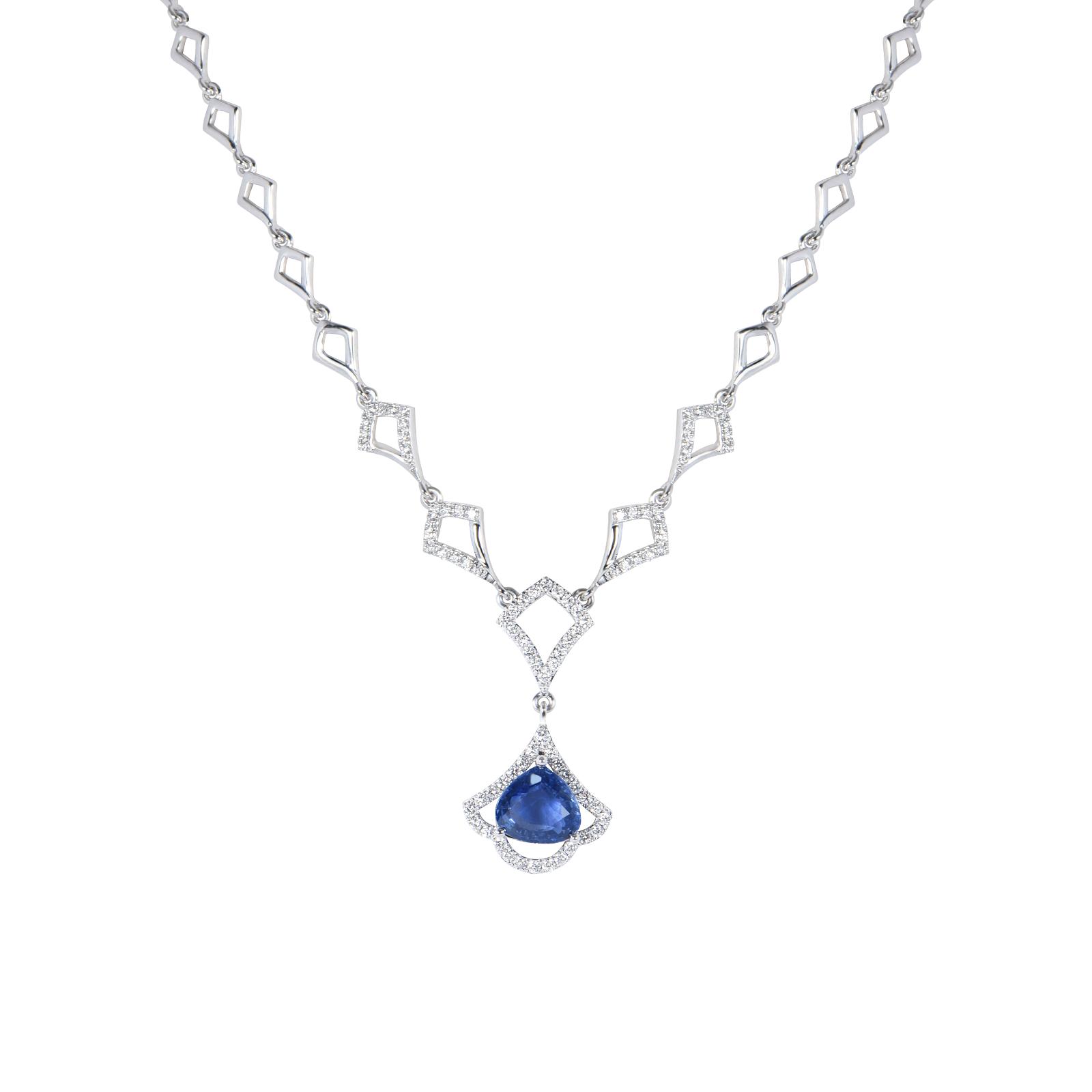 Dây chuyền đá Sapphire 20M072.6TY