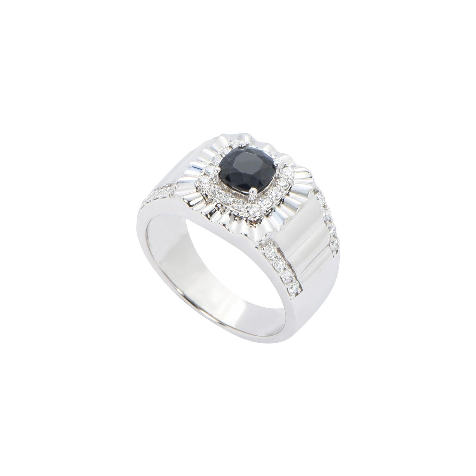 Nhẫn nam đá Sapphire 20NN044.2TI